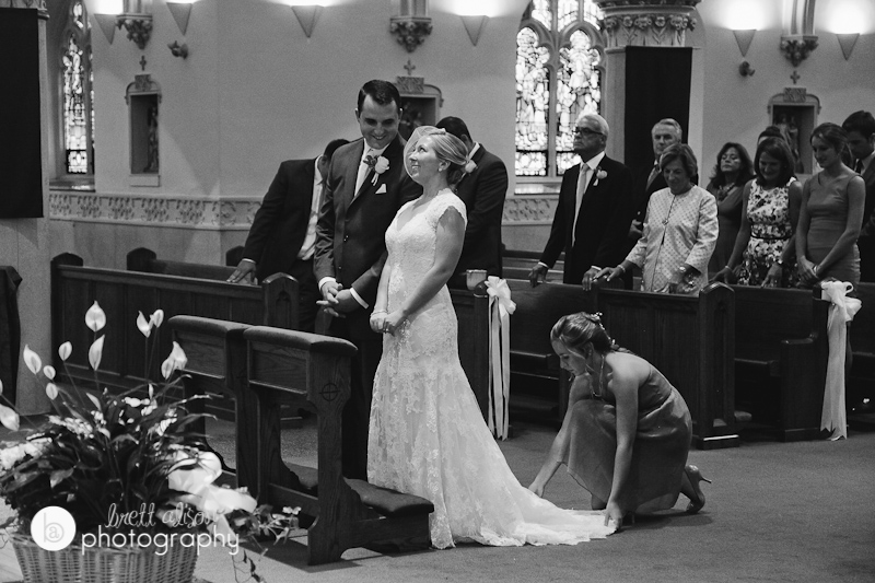 wedding photos at saint agatha's church milton