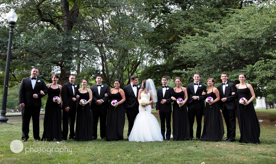 bridal party on the boston common