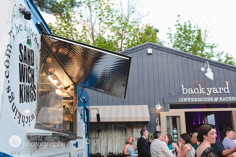 maine wedding with food truck