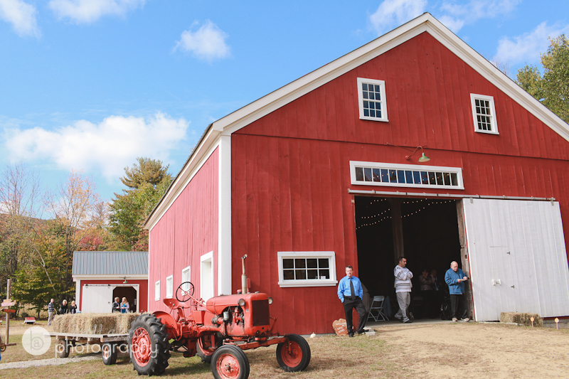 red barn at kitz farm nh
