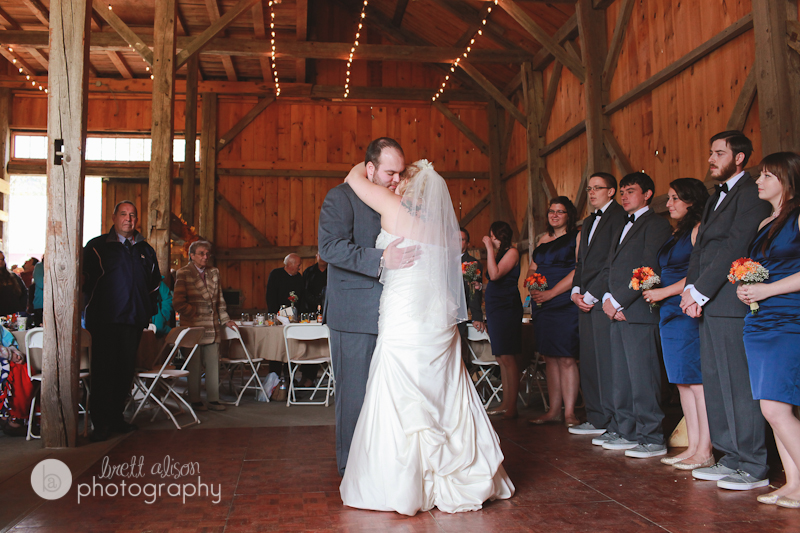 wedding reception in red barn nh kitz farm