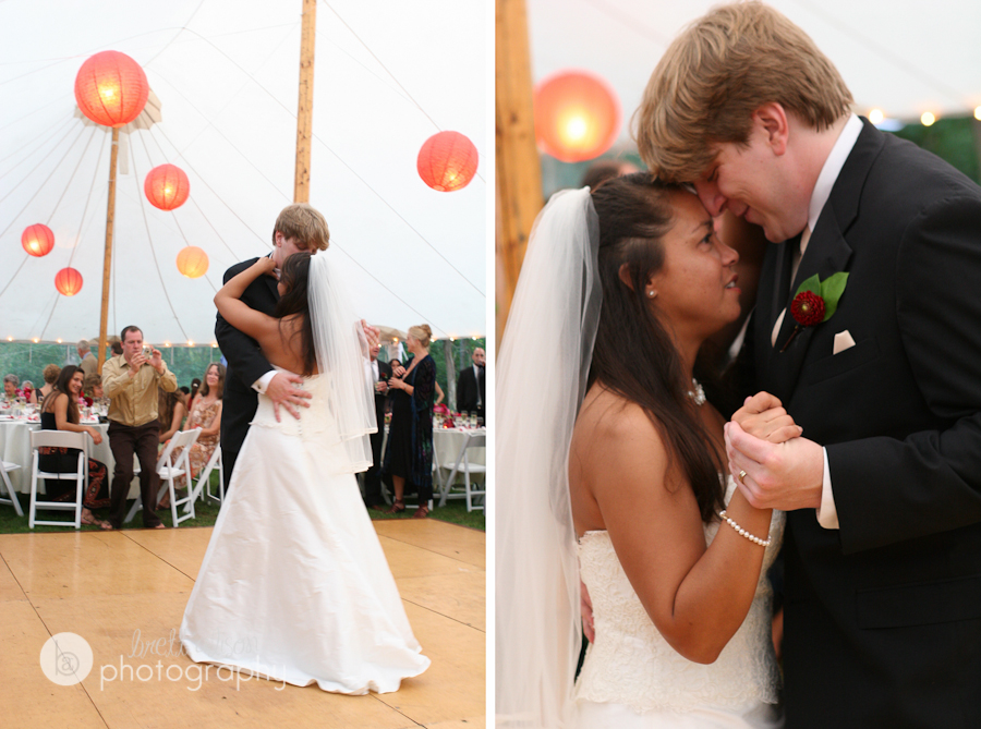 diy tent backyard wedding lanterns