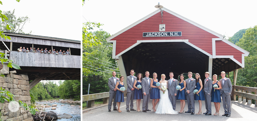 covered bridge wedding photos nh