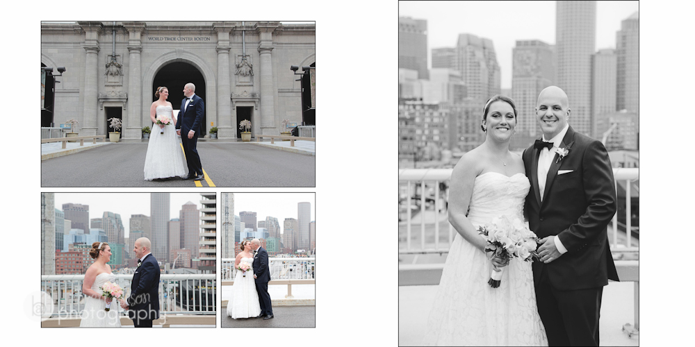 wedding photos at the seaport hotel boston