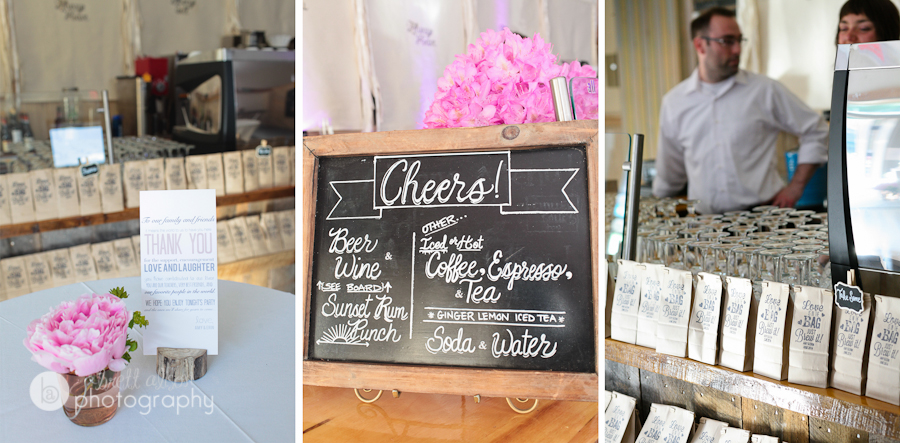 chalkboard wedding details
