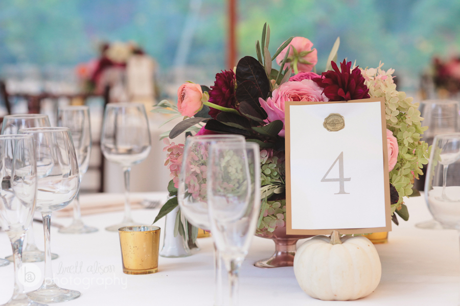 white pumpkins in wedding decor
