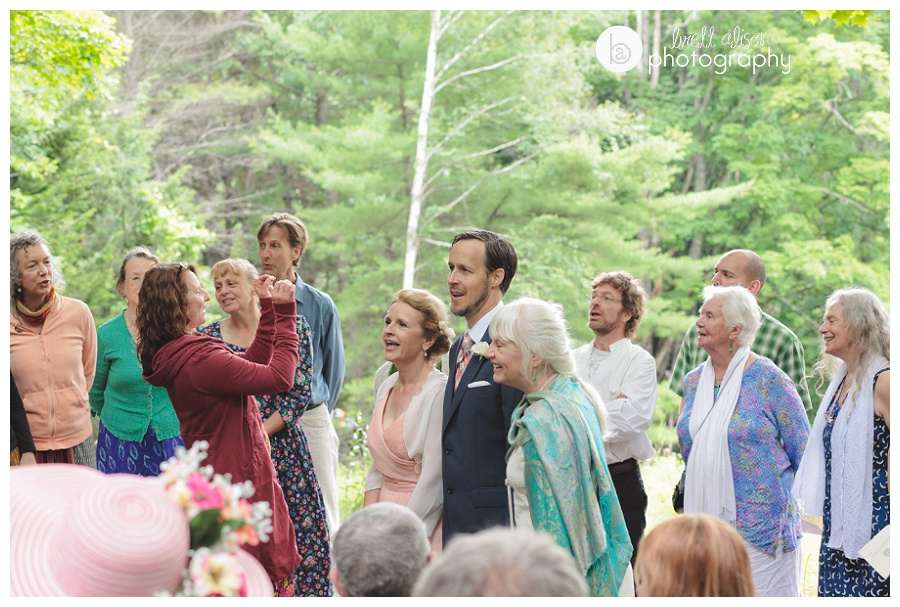 wedding in the woods vermont
