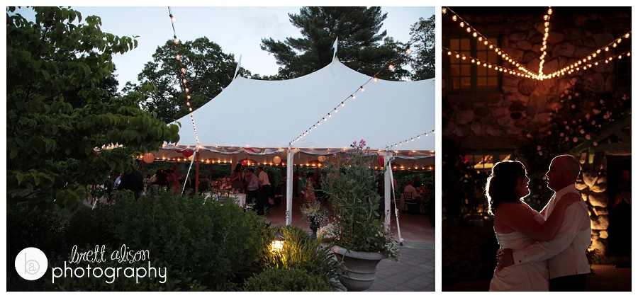tent lighted up at night willowdale estate