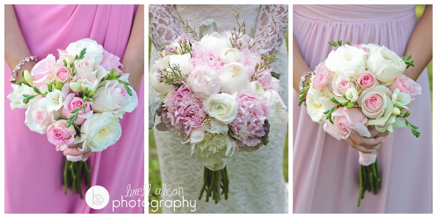 pink and white wedding colors massachusetts summer