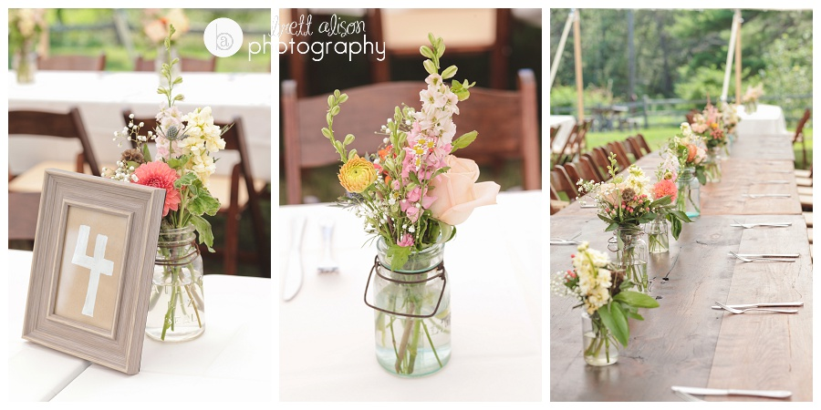 mason jar wedding flowers centerpieces
