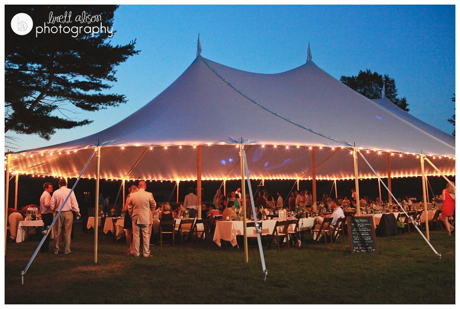 tent wedding reception ad makepeace