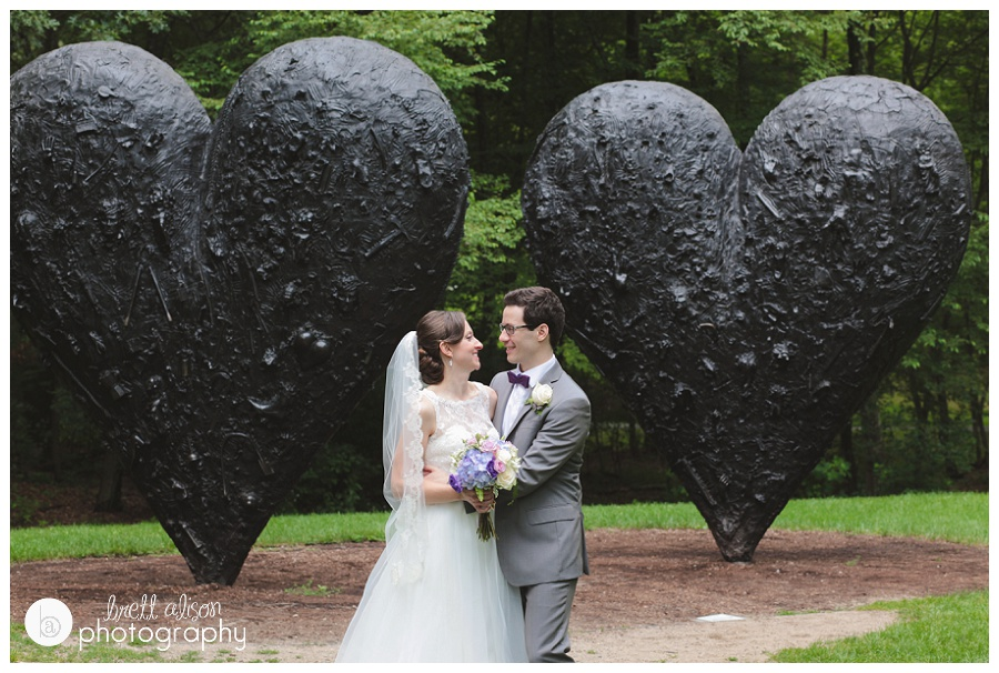 decordova sculpture park wedding photos