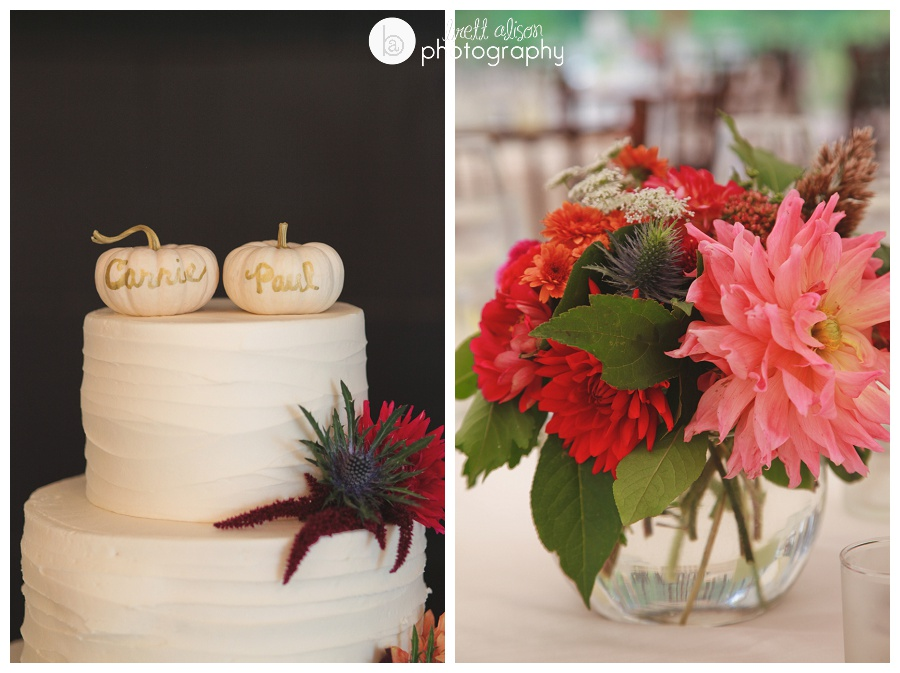 wedding details at willowdale estate