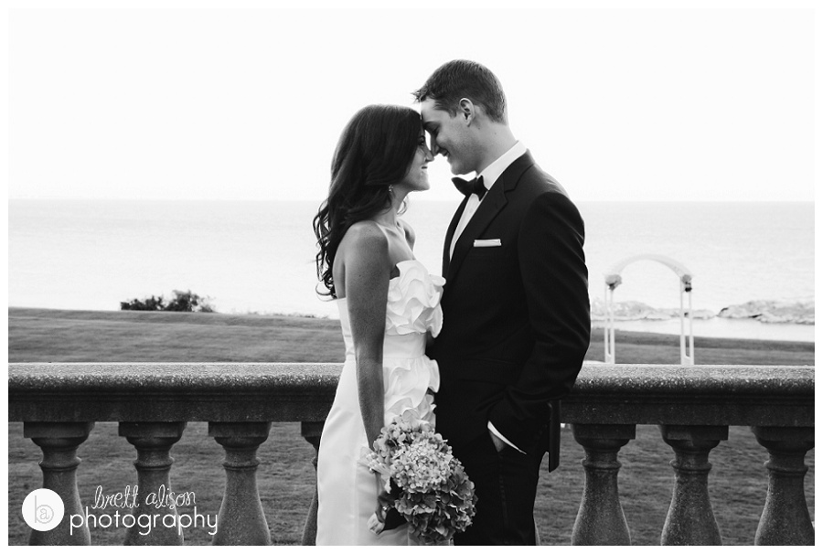 waterfront newport wedding photos