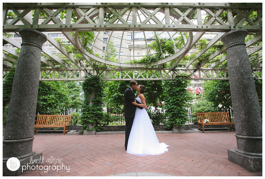 wedding photos at langham hotel boston