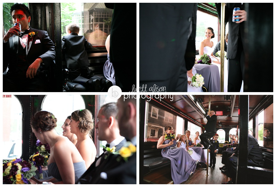 boston wedding trolley photos