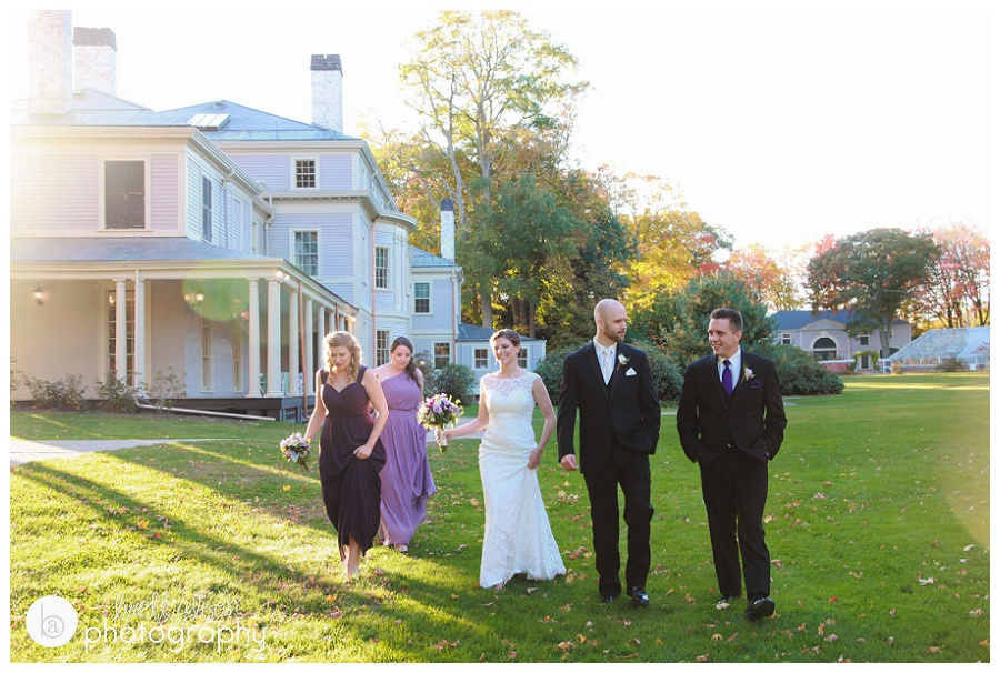 lyman estate fall wedding