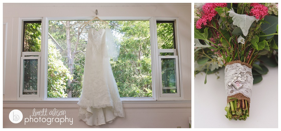 wedding dress in window belmont habitat