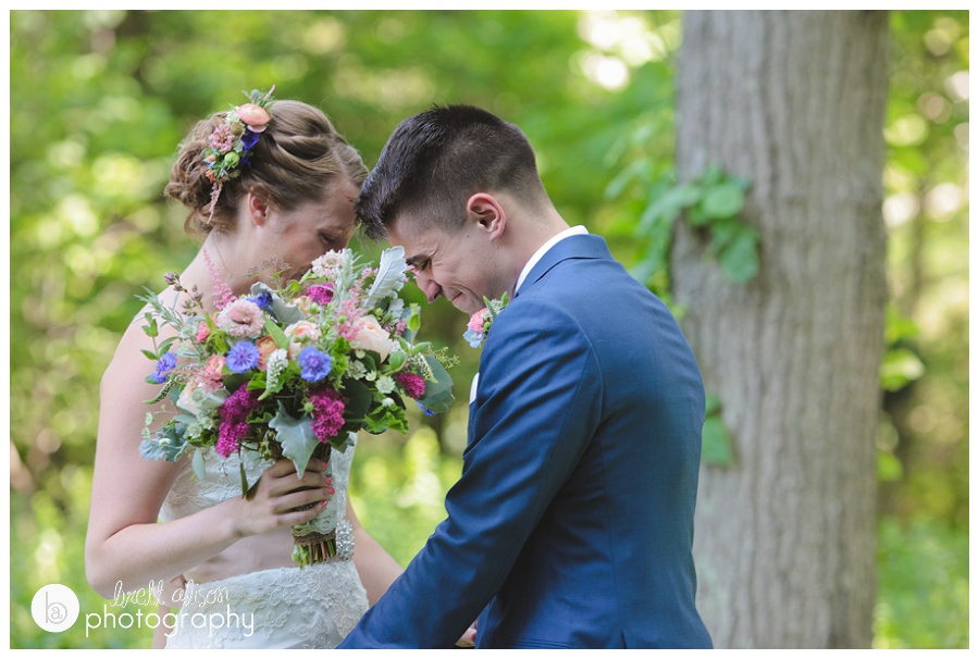 grooms reaction to first look wedding photos