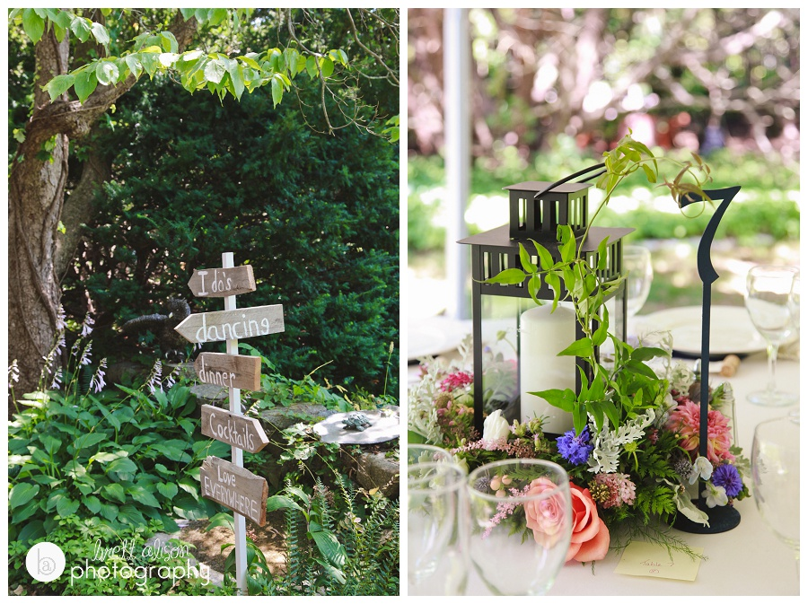 diy wedding signs and rustic woodsy wedding details