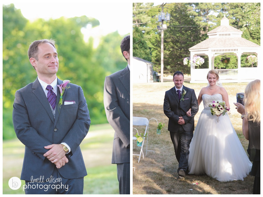 outdoor ceremony at hellenic center wedding