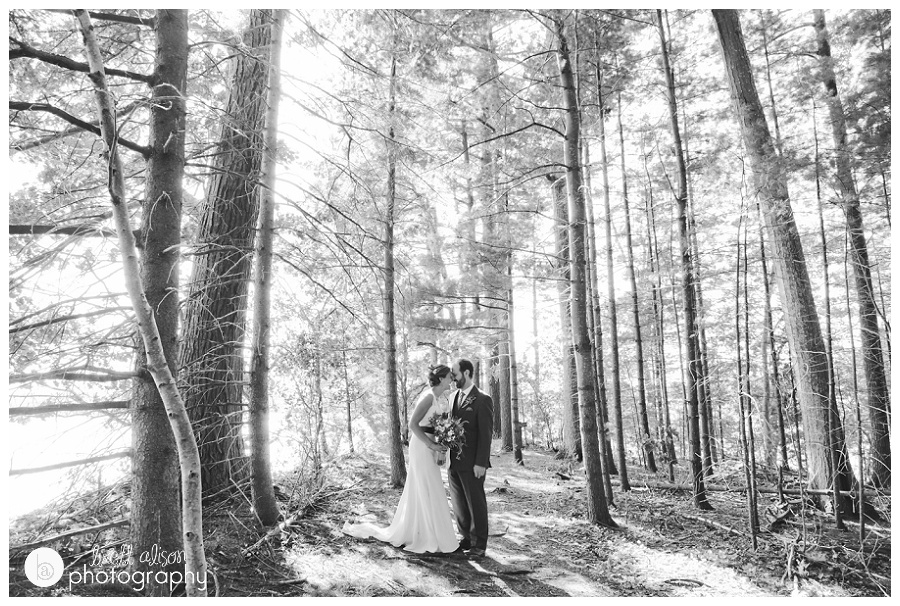 fun outdoor wedding in the woods new hampshire nh
