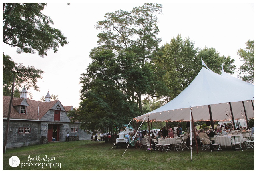 newington fox point nh wedding tent reception