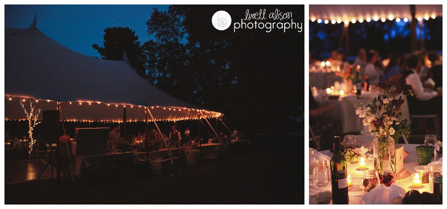 tent wedding reception fox point newington