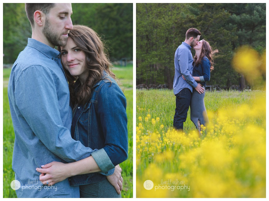 summer engagement photos concord mass