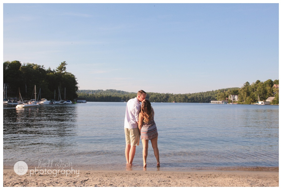 lake engagement photos nh