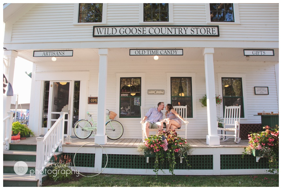 downtown sunapee nh engagement session