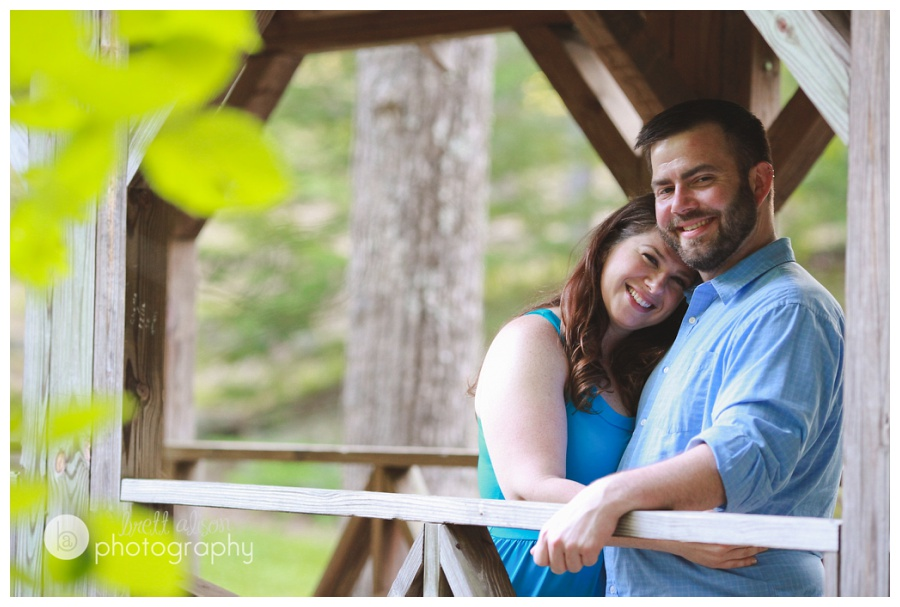 engagement session on covered bridge massachusetts