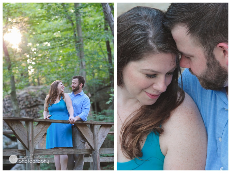 waterfall engagement session photos massachusetts