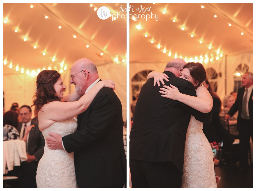 candid emotional father daughter dances